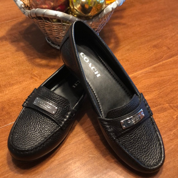 Coach Shoes - Coach Black Leather Loafers